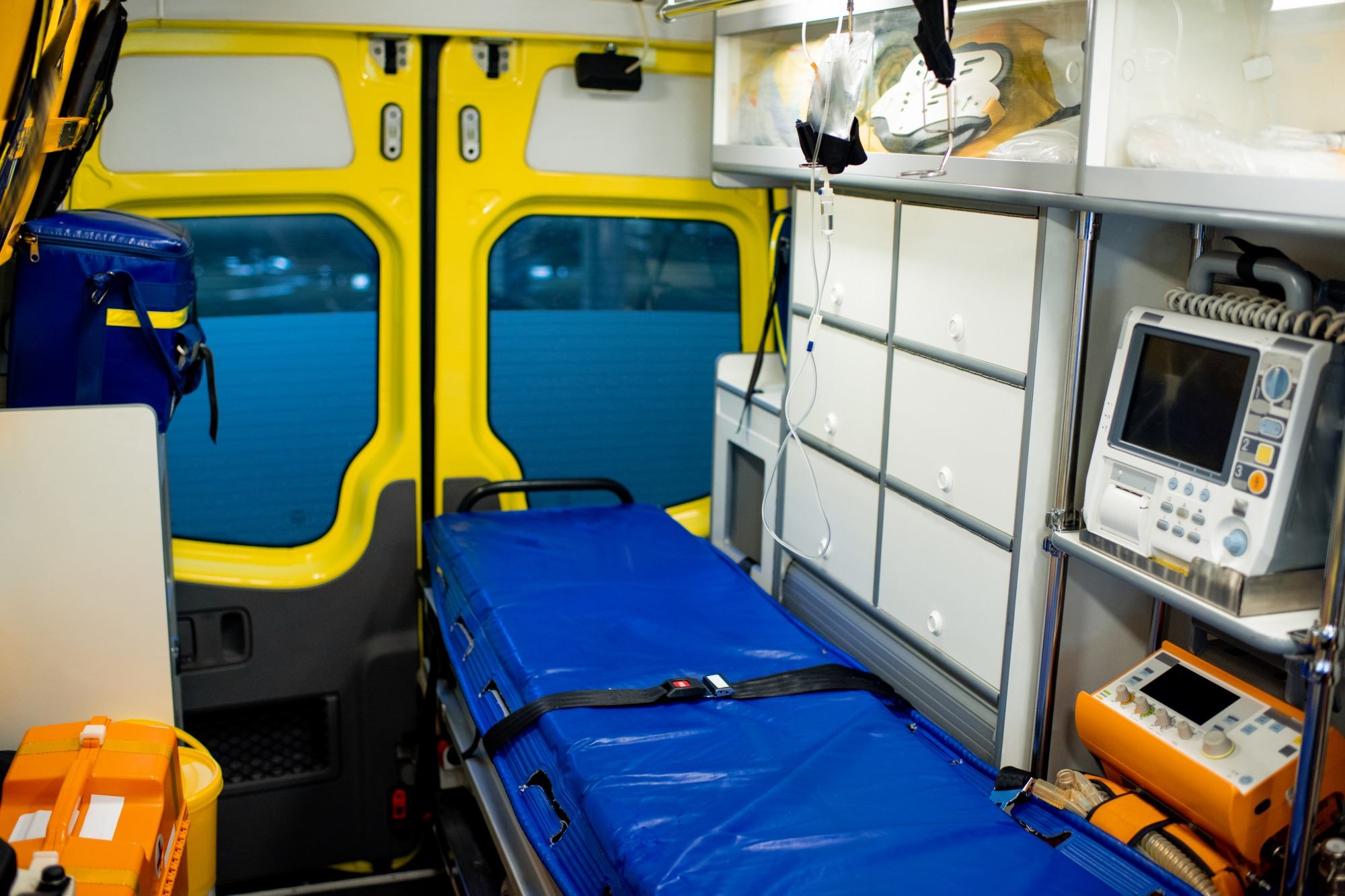 interior-of-ambulance car with stretcher - Decorative